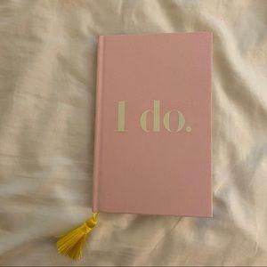 Kate Spade I Do Pink Wedding Notebook NEW